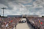 012.05.2017 - Portugal - Fatima : Papst Franziskus w�hrend seinem zweit�gigen Fatima - Besuch in Portugal - Zum 100. Jahrestag der ersten Marienerscheinung spricht er in dem Wallfahrtsort  ...