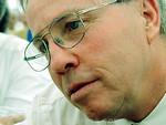 Christoph Blocher: SVP Z�rich, Nationalrat an der Parteiversammlung in Holzikon 1999